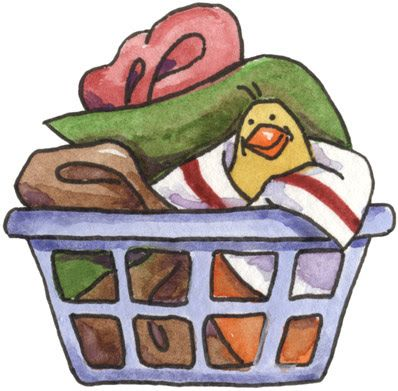Basket clipart clothing.  best dirty laundry