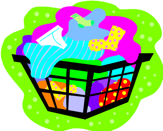 Basket clipart clothing. Change clothes free images