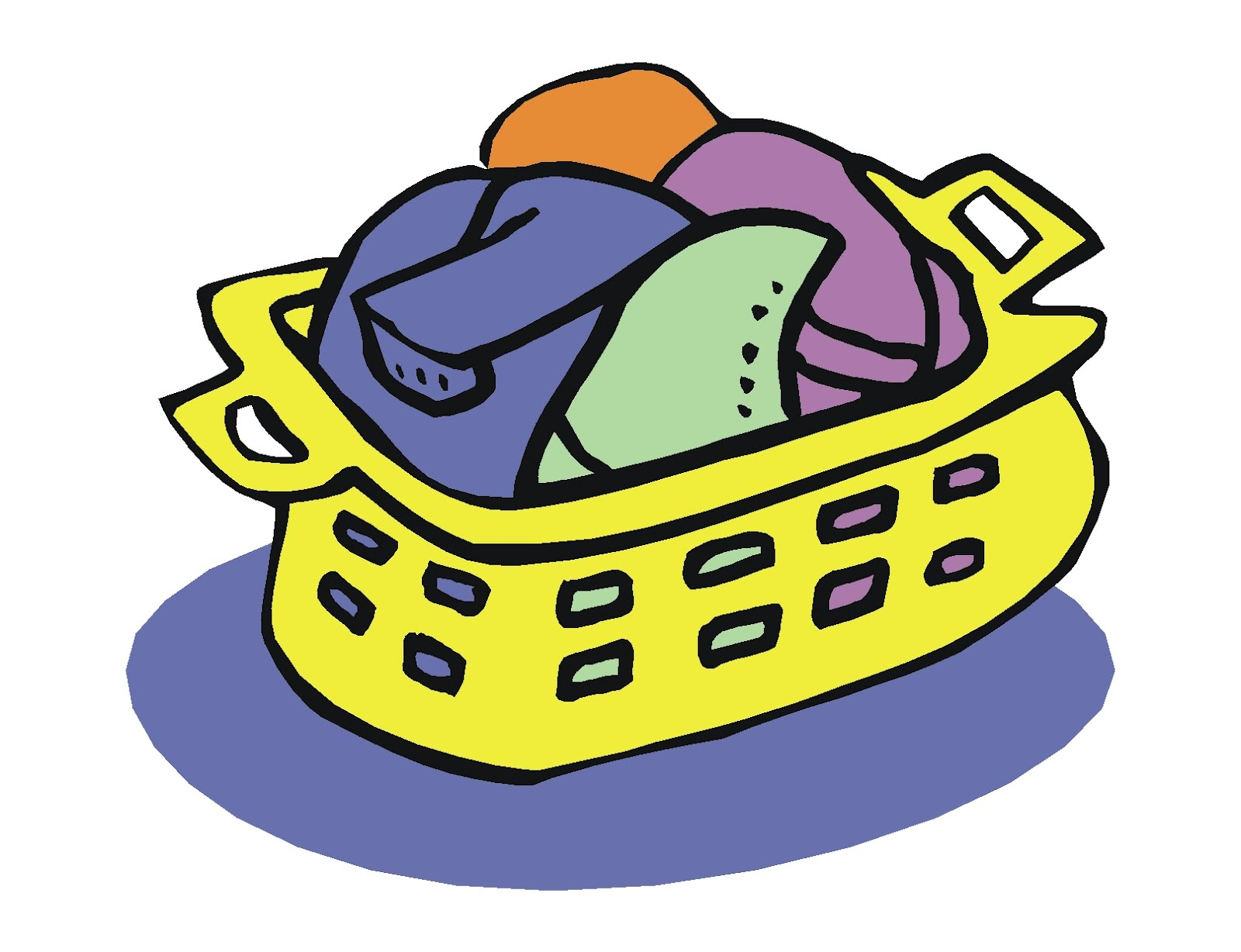 Basket clipart clothing. Put on clothes free