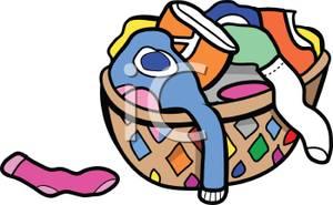 Clipart socks basket. Put on clothes panda