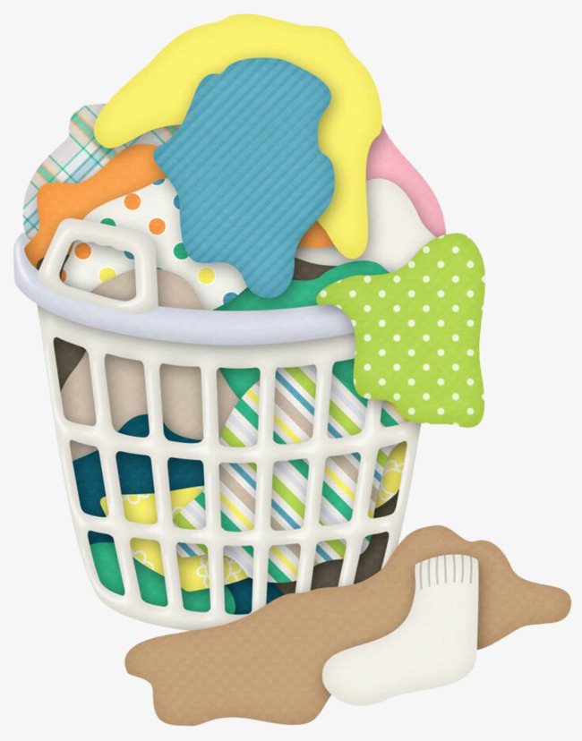 Basket graphic design clothing. Laundry clipart