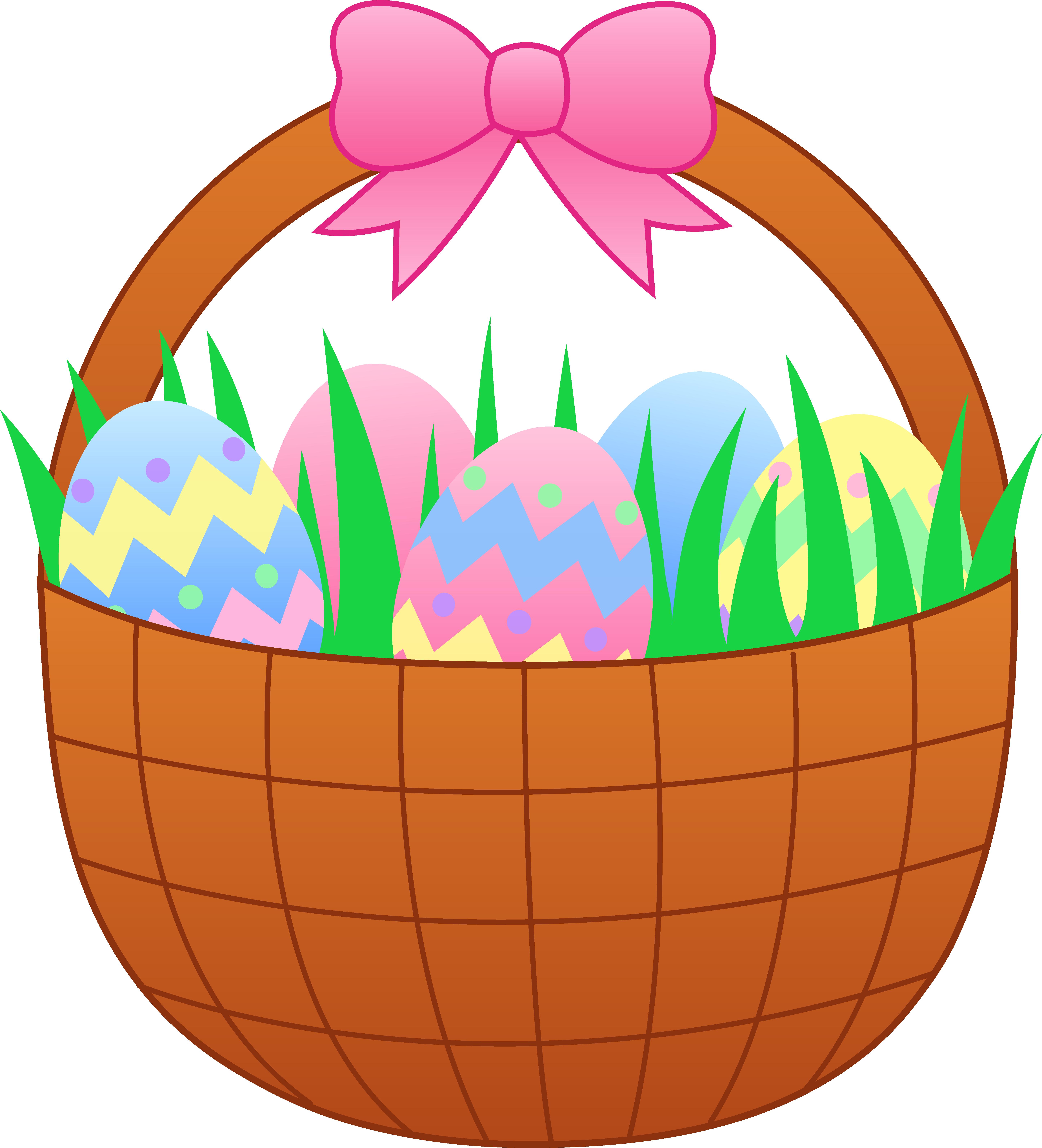 Eggs clipart comic. Easter egg basket