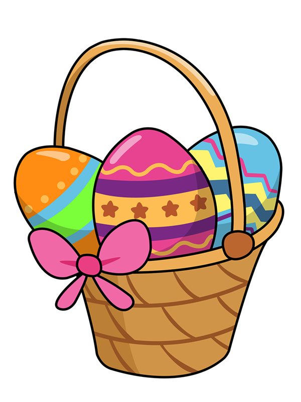 Maid clipart medieval. Cute easter basket