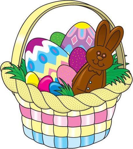 Pasqua dibuixos gift baskets. Clipart easter easter basket
