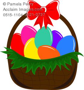 Clip art image of. Basket clipart easter egg