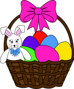 Basket clipart easter egg. Free image bunny and