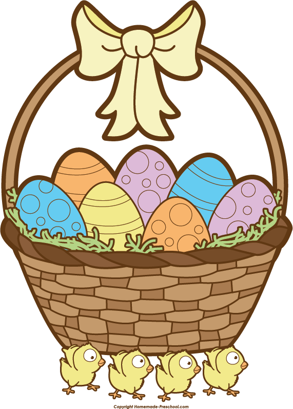 Clipart hat easter. Basket black and white