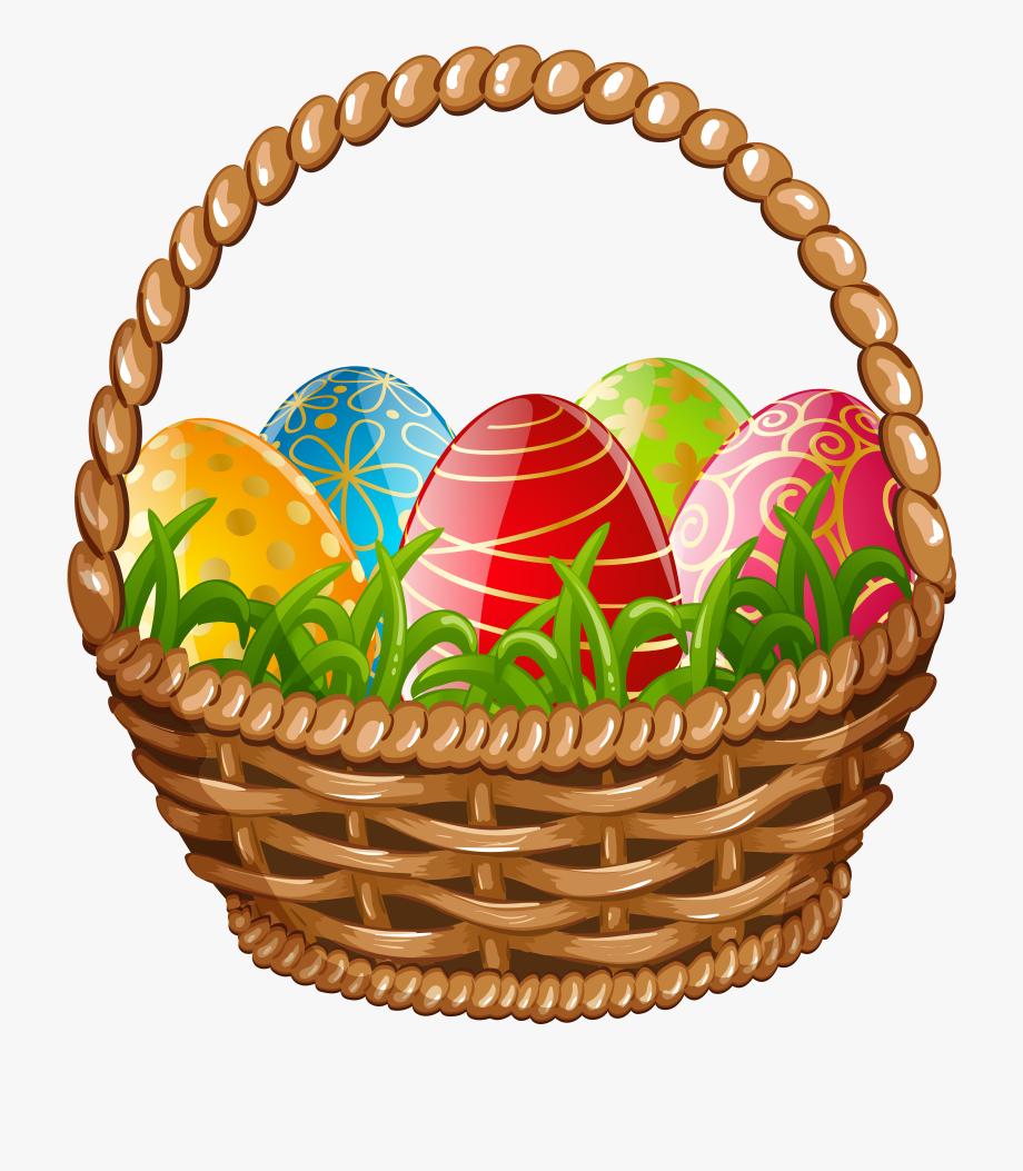 Png clip art image. Basket clipart easter egg