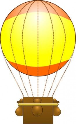 Basket hot air balloon