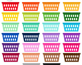 Basket clipart laundry basket. Colors png digital instant
