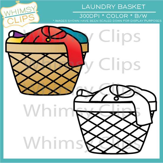 Clip art images illustrations. Basket clipart laundry basket