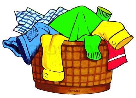 Basket clipart laundry basket. Illustration vector