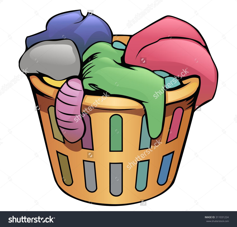 Basket clipart laundry basket. Dirty clipartxtras black