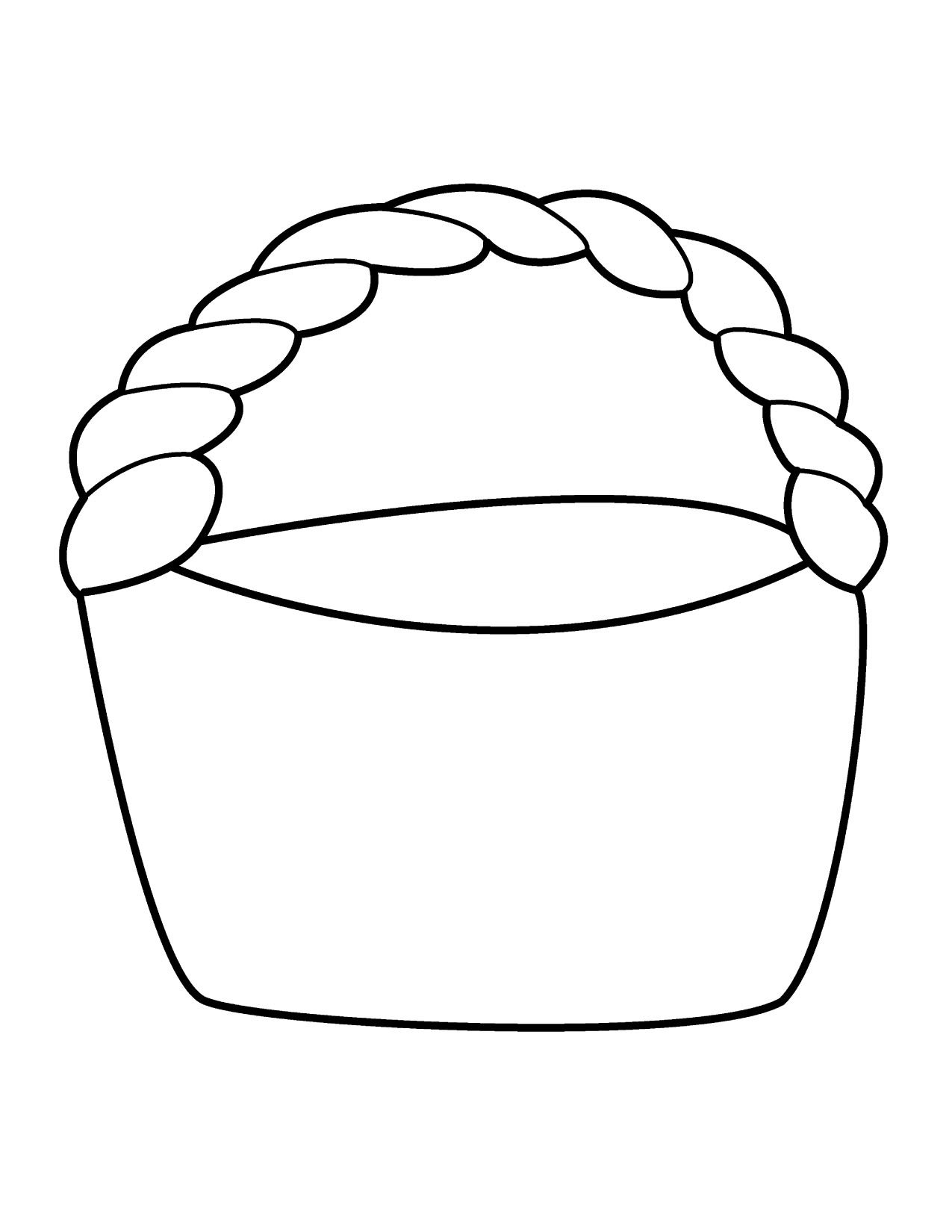 New gallery digital collection. Basket clipart line art