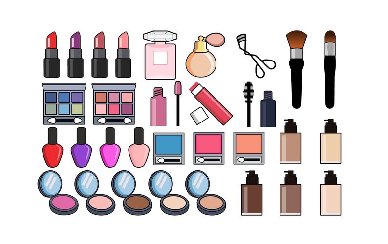 Beauty and cosmetics icons. Makeup clipart clipart hd