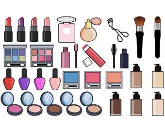 Basket clipart makeup. Clip art etsy