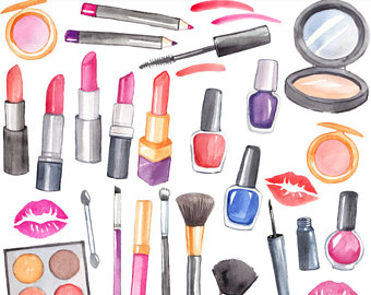 Basket clipart makeup. Digital for personal and
