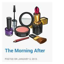 Make up clip art. Basket clipart makeup