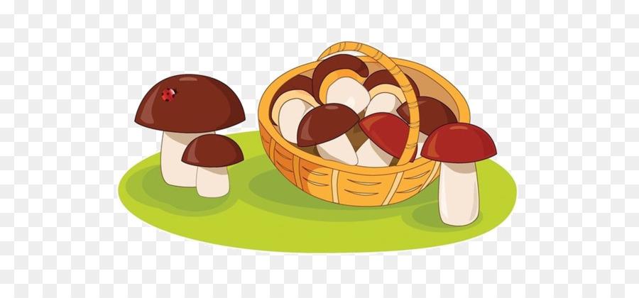 Edible boletus edulis clip. Basket clipart mushroom
