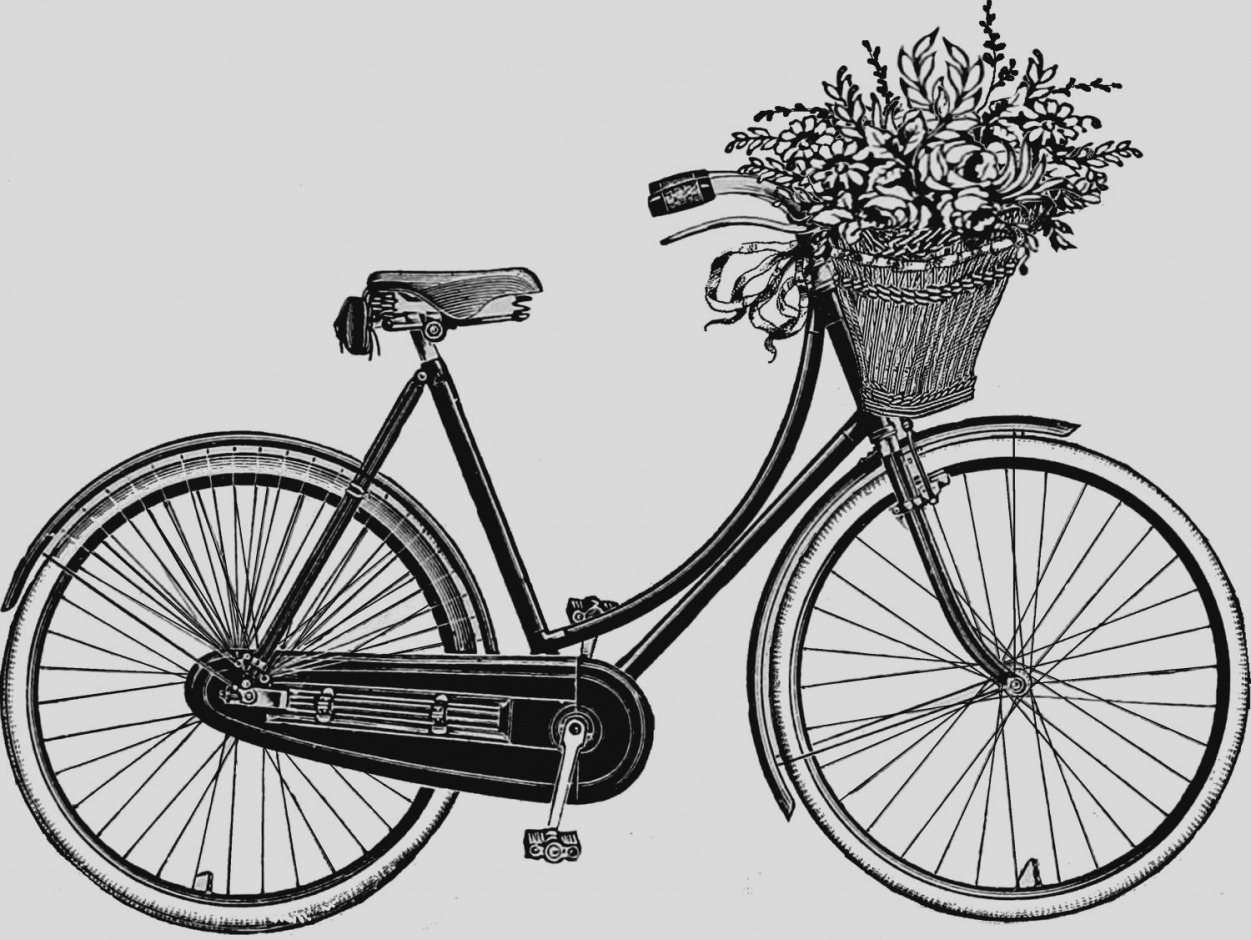 Pictures of bike clip. Biking clipart old fashioned