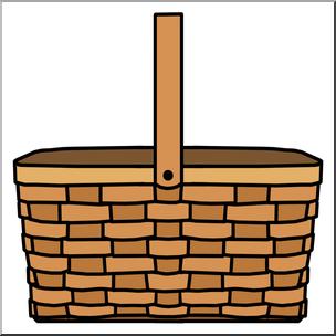 Basket clipart picnic basket. Clip art color i