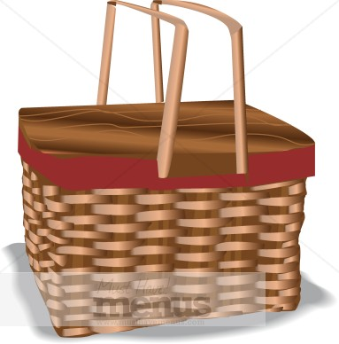 . Basket clipart picnic basket