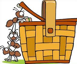 Basket clipart picnic basket. Free