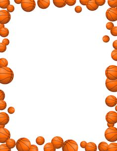 Basket clipart printable. Basketball free boarder clip