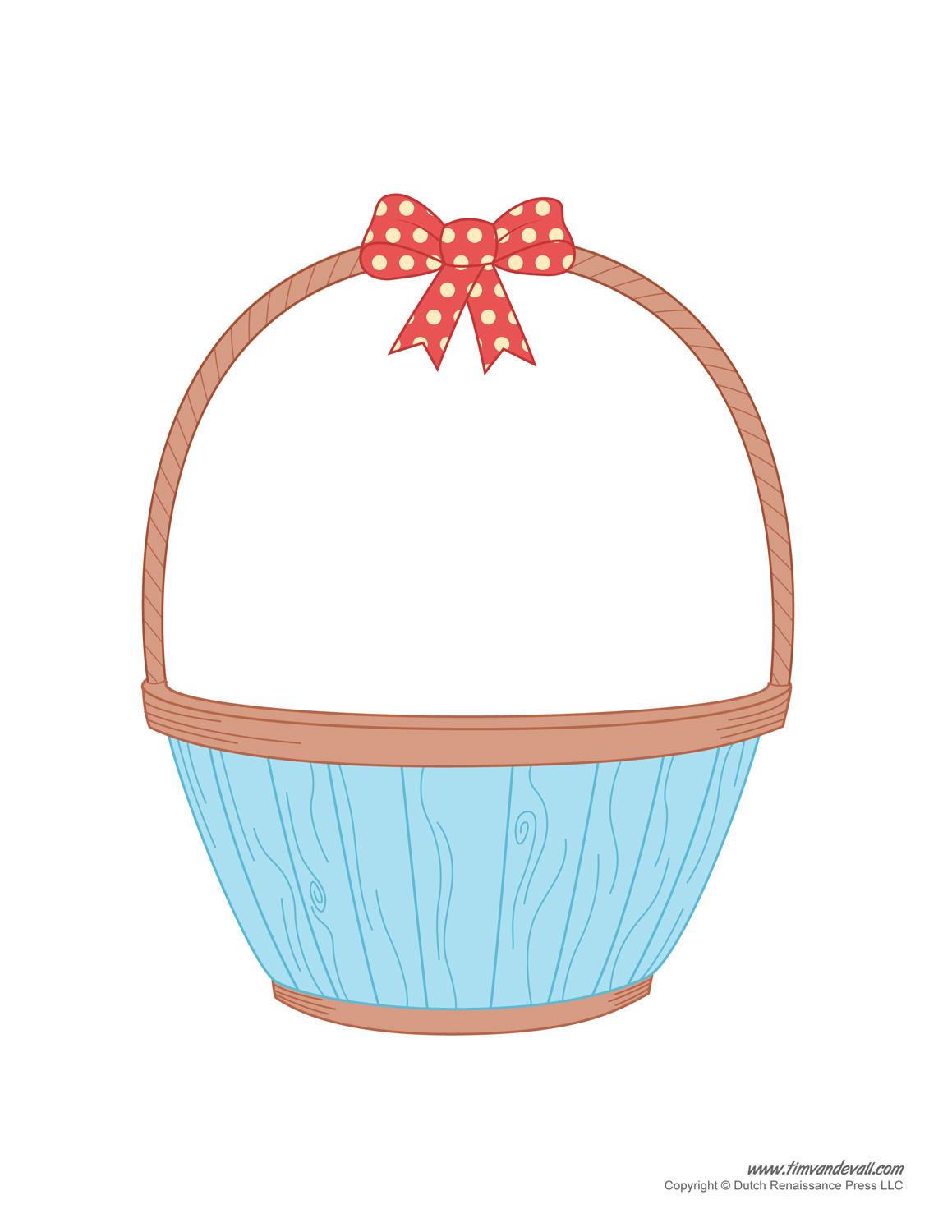 Easter template craft. Basket clipart printable