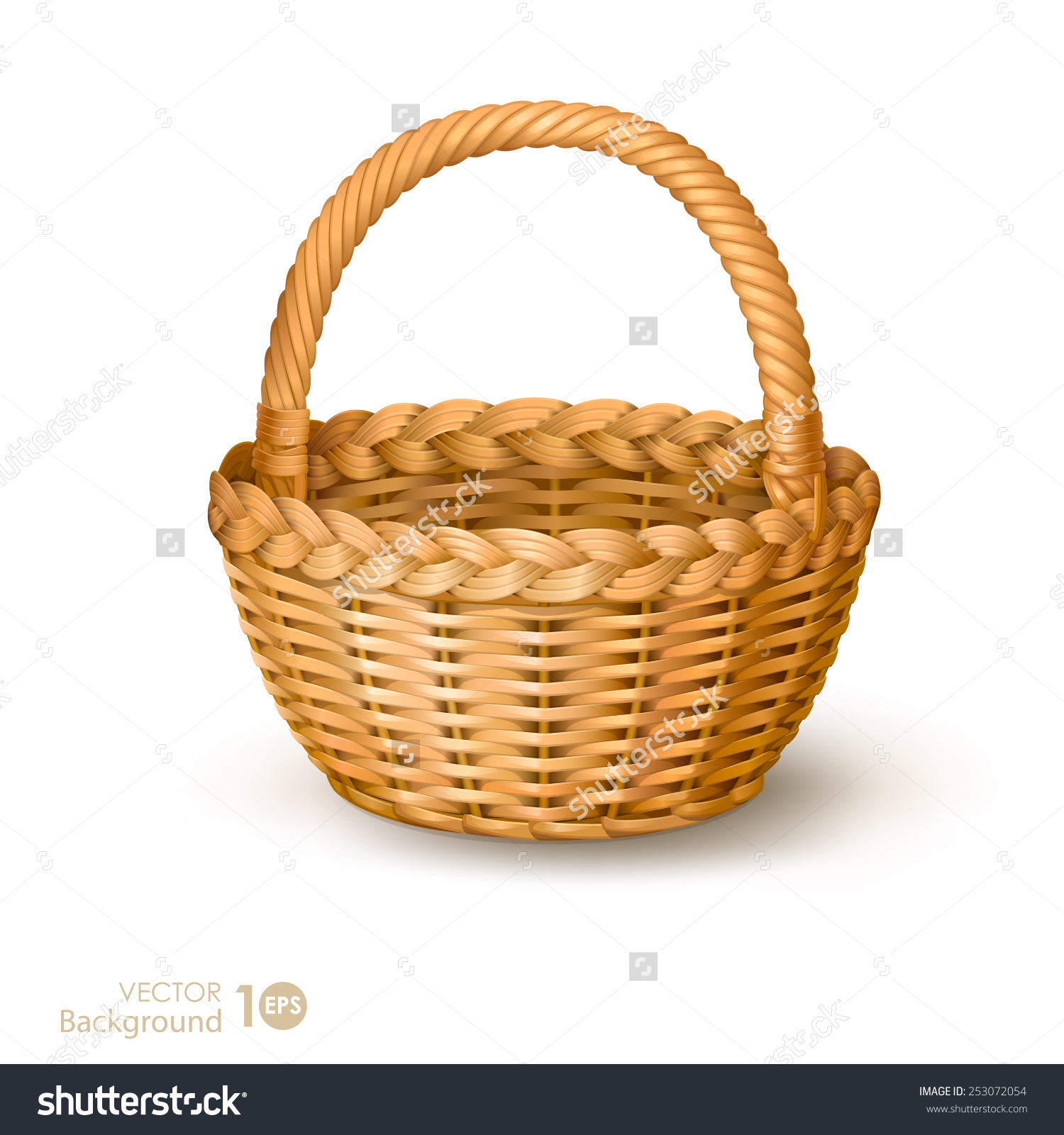 Basket rattan basket