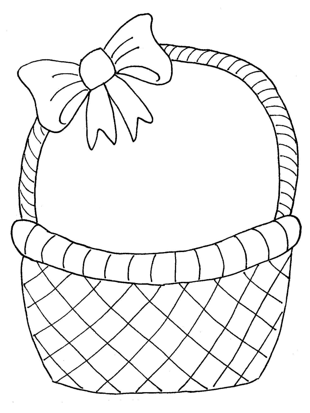 Basket clipart simple. Drawing at getdrawings com