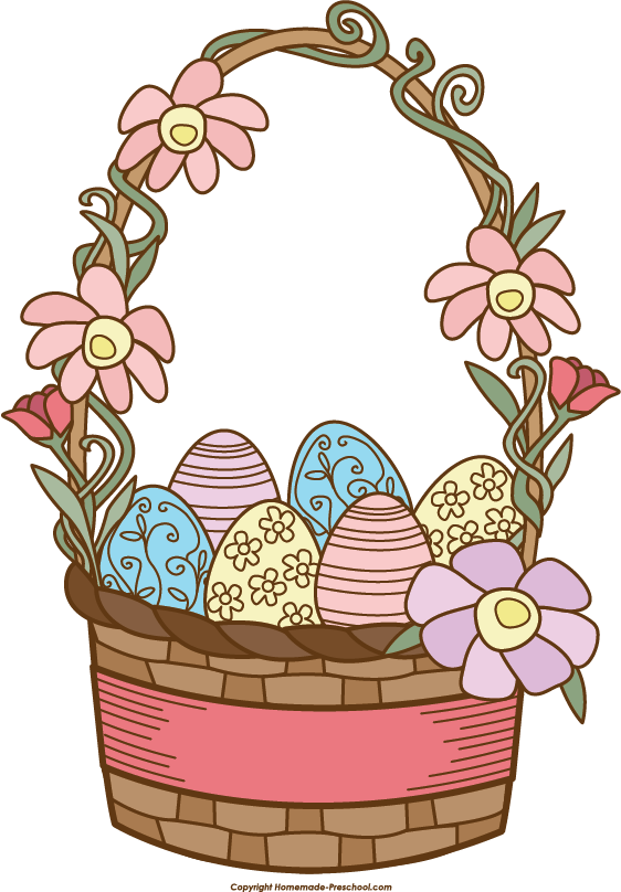 Clipart bunny basket. Free easter click to