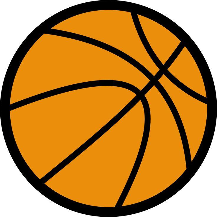 Basketball clip art free. Basket clipart simple
