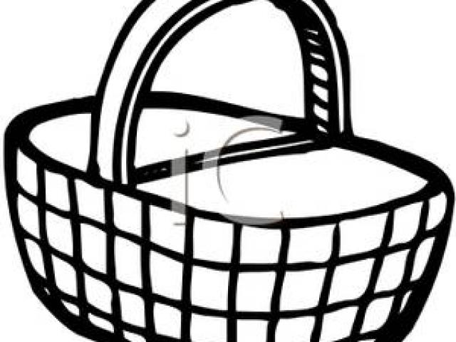 Drawing images free download. Basket clipart simple