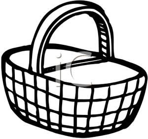 Picnic clip art black. Basket clipart simple