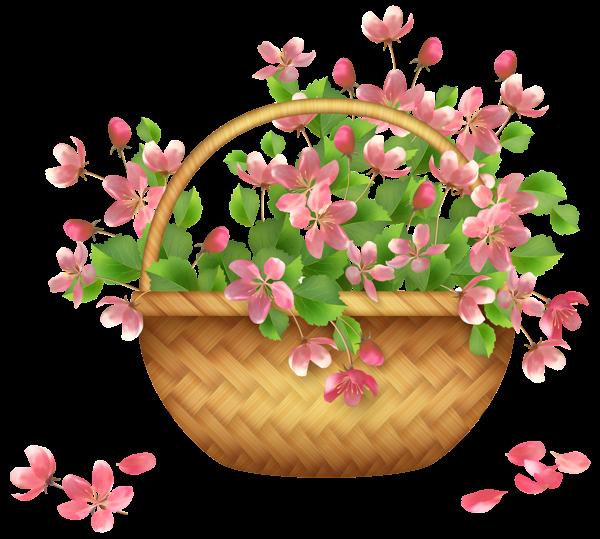 Spring png art power. Daisies clipart flower basket
