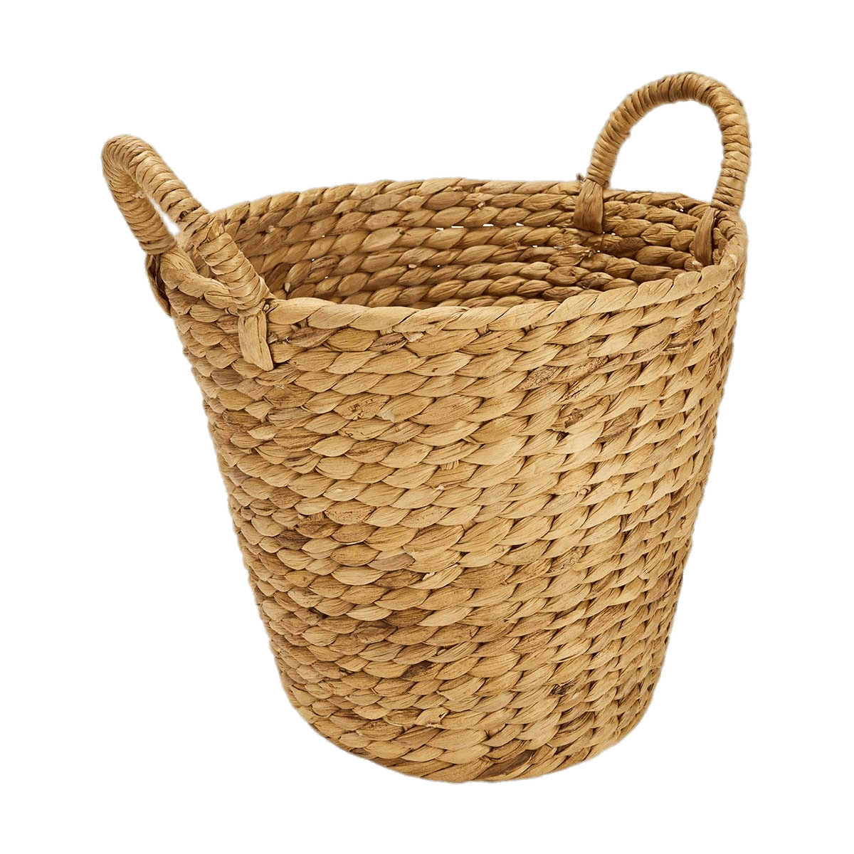 Round basket with handles. Laundry clipart laundry hamper