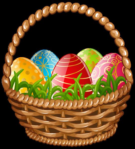 Easter egg basket png. Raffle clipart hampers