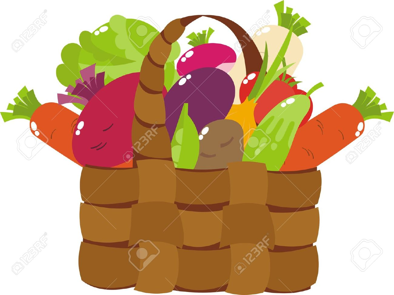 Vector pencil and in. Vegetables clipart fair