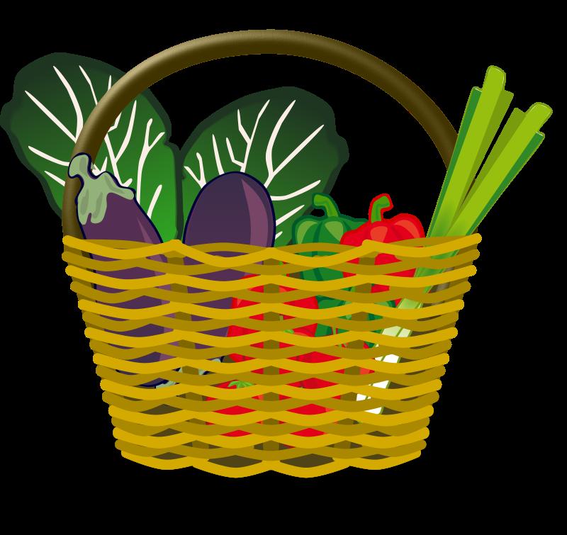 Fruits clipart veg. Vegetable basket free