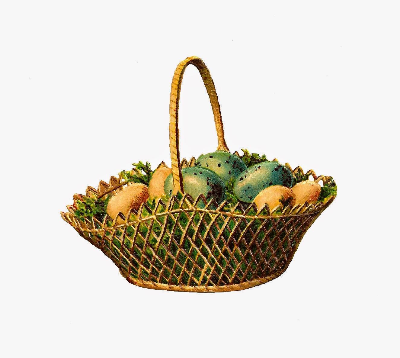 Antique images free digital. Basket clipart vintage