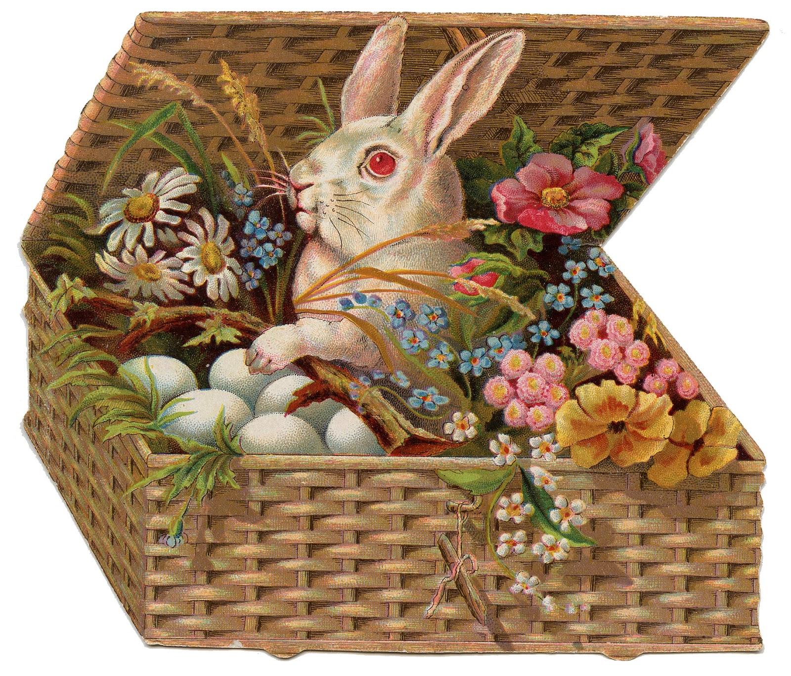 Basket clipart vintage. Easter clip art of