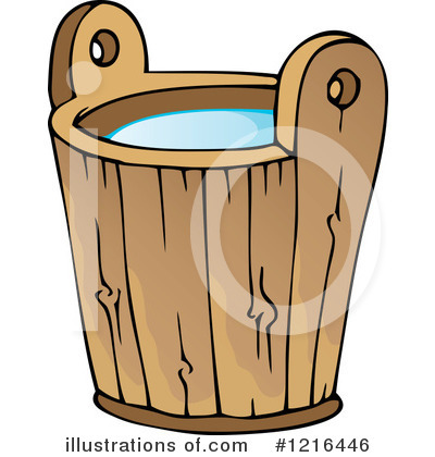 Water illustration by visekart. Bucket clipart basket