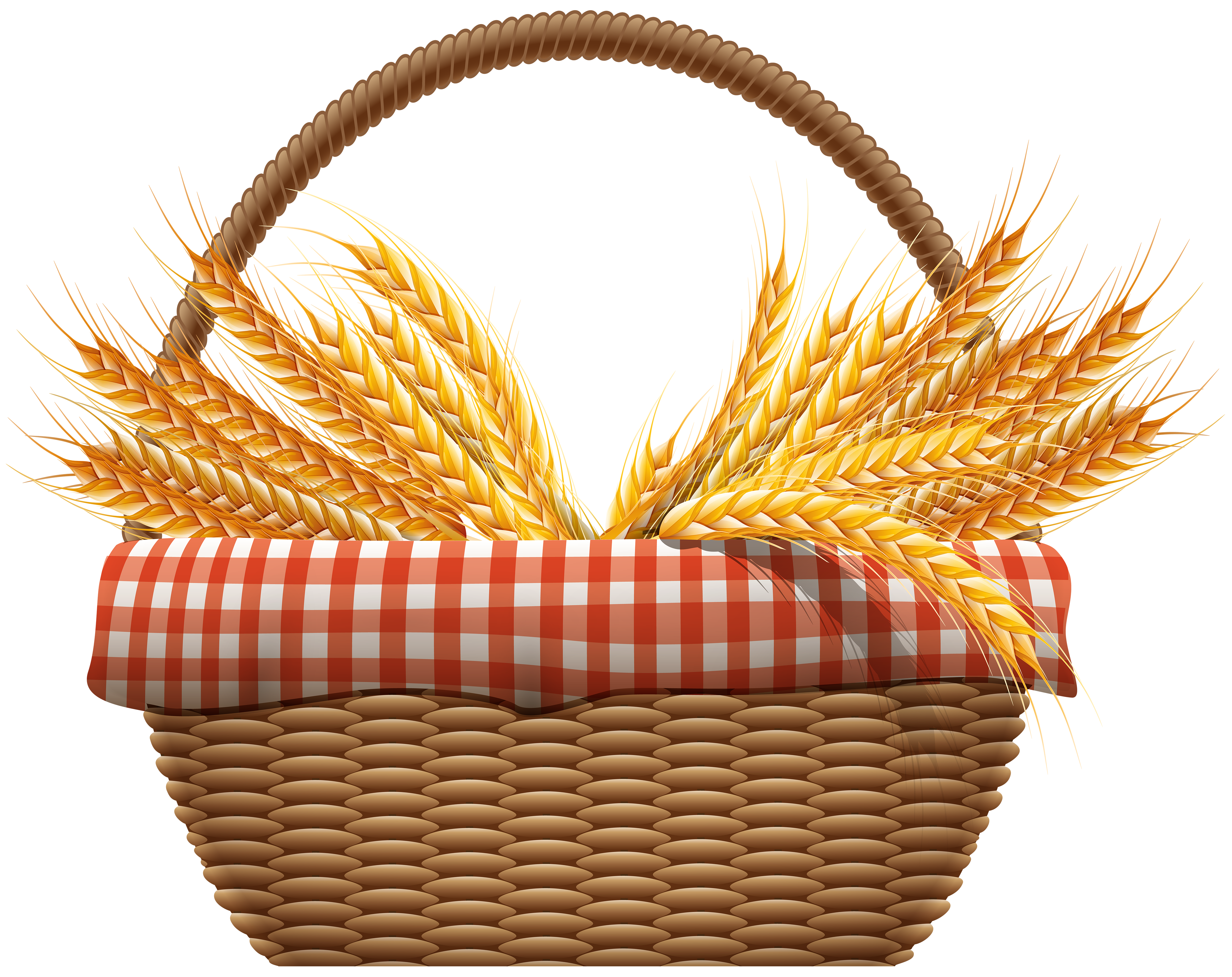 Wheat clipart basket. Autumn with png clip