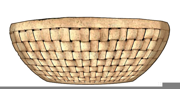 Basket clipart wicker basket. Woven free images at