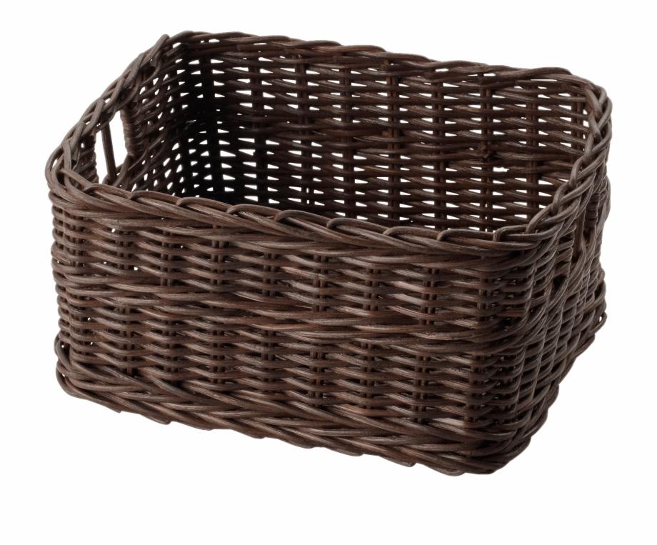 Basket clipart wicker basket. Dark brown ikea transparent