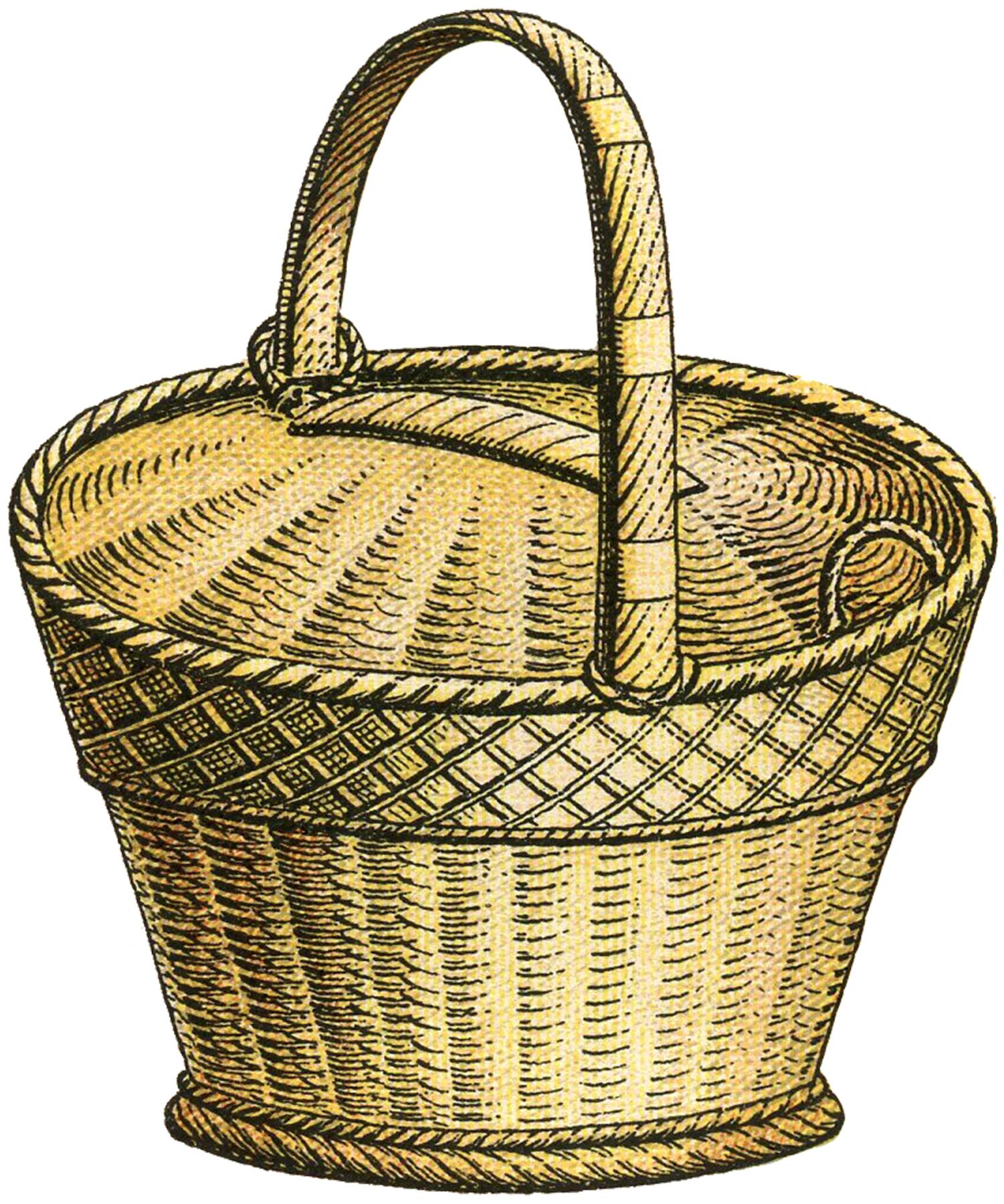 Basket clipart woven basket.