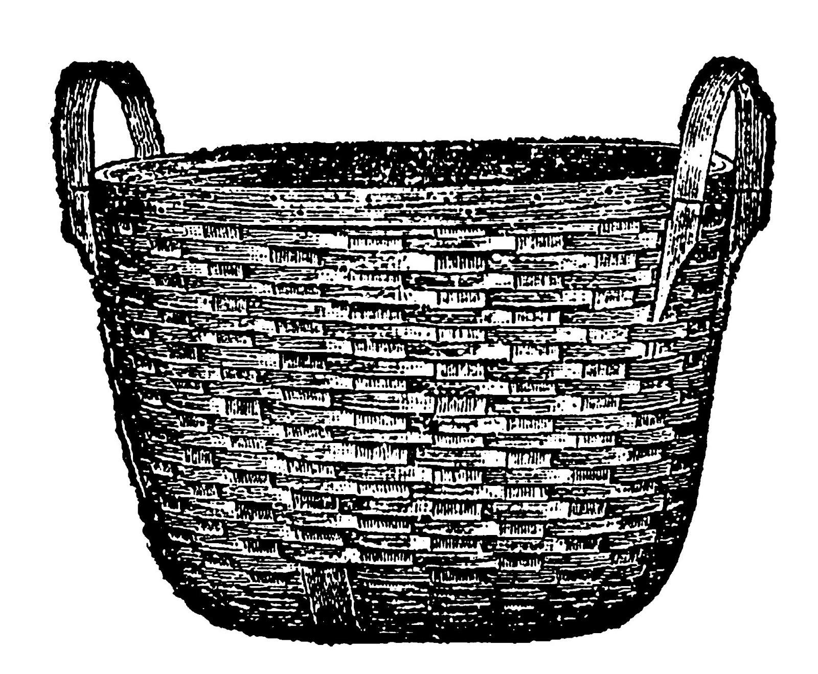 Digital stamp design laundry. Basket clipart woven basket
