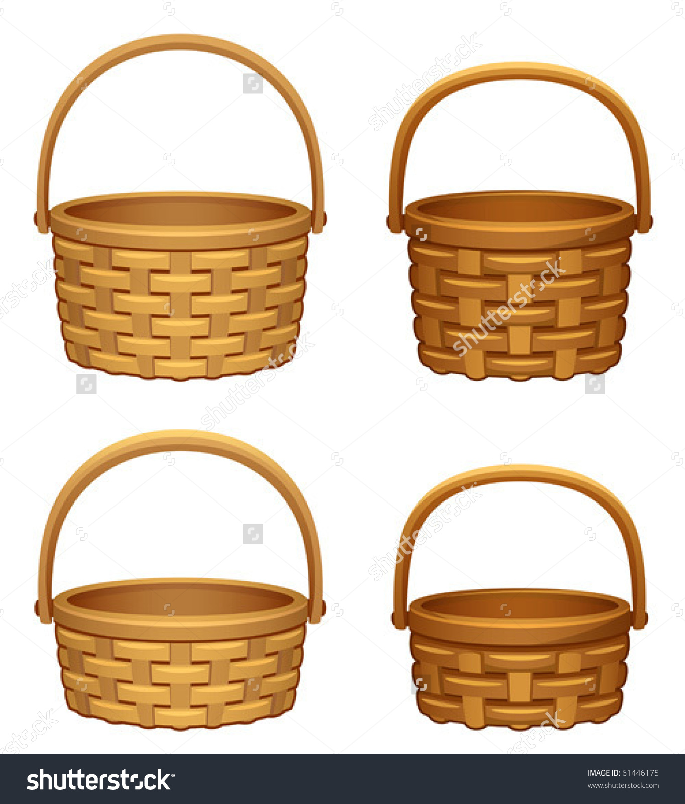 Isolated royalty free stock. Basket clipart woven basket