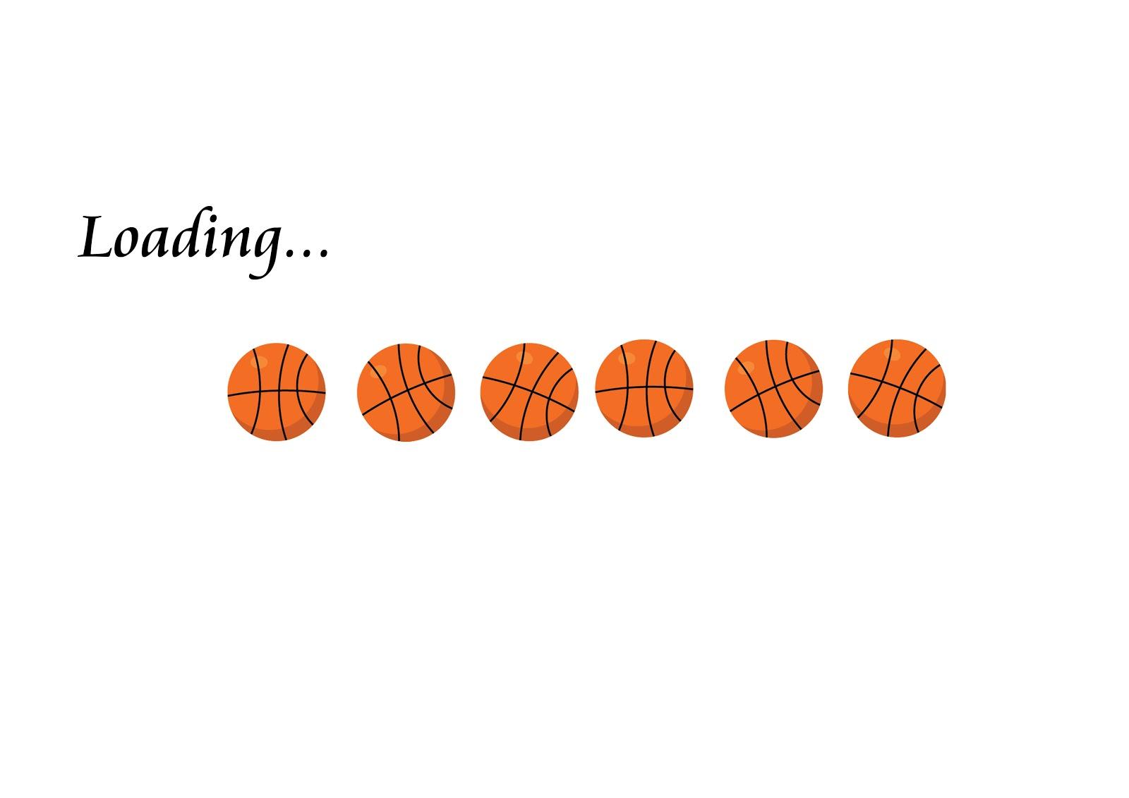 Basketball clipart banner. Vector art group free